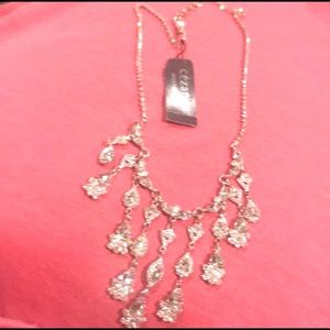 🌺Gorgeous dangling Crystal silver-tone🆕necklace